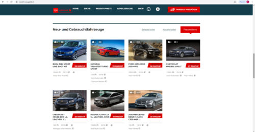 Verkaufe topfahrzeuge24.ch Autoportal