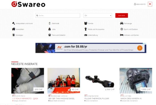 Gratis Inserate Plattform – Swareo.ch