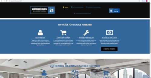 Verkaufe Ausschreibungsportal / ausschreibungen24.ch