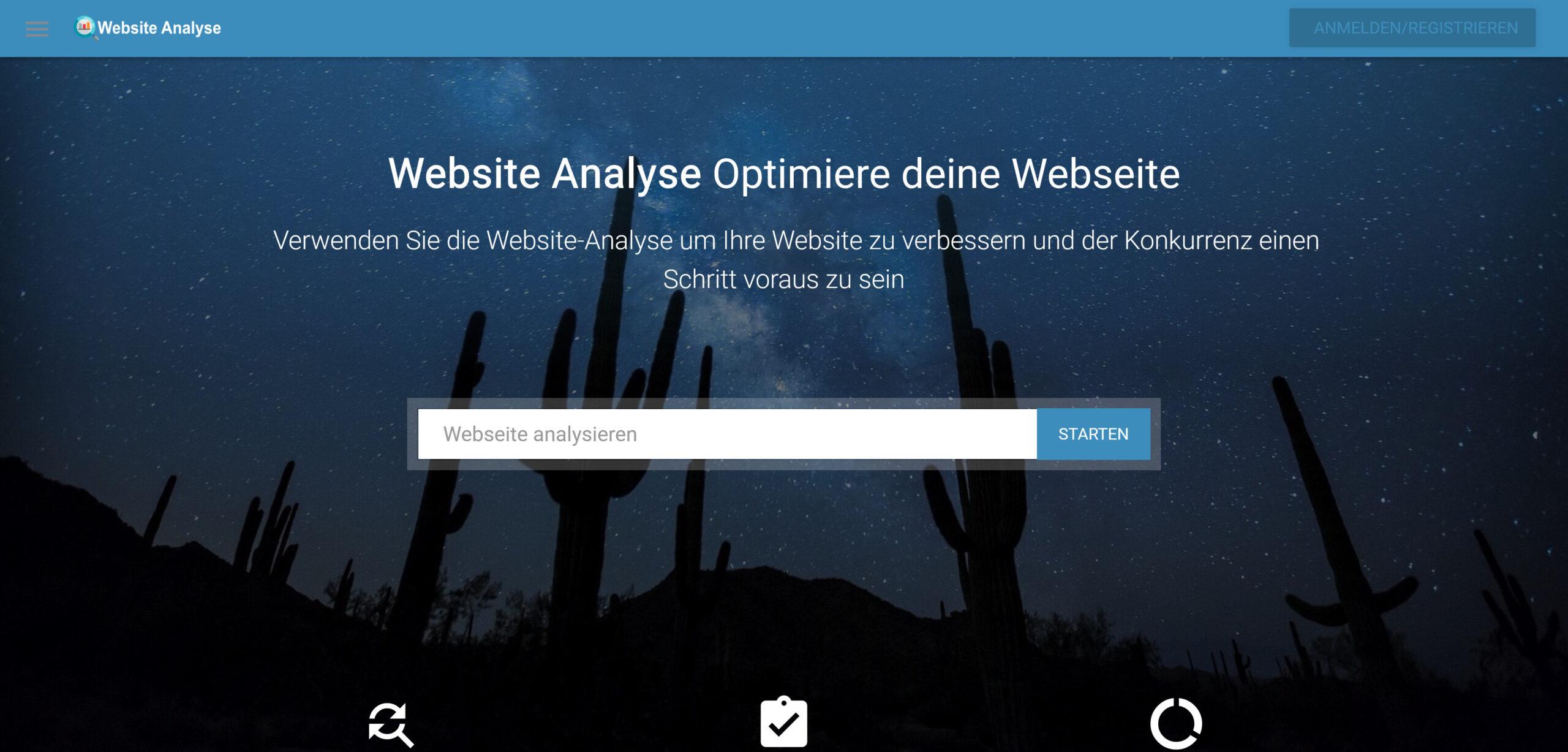 Websiteanalyse.info Website + Domain