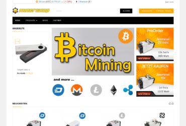 Mining Onlineshop zu verkaufen