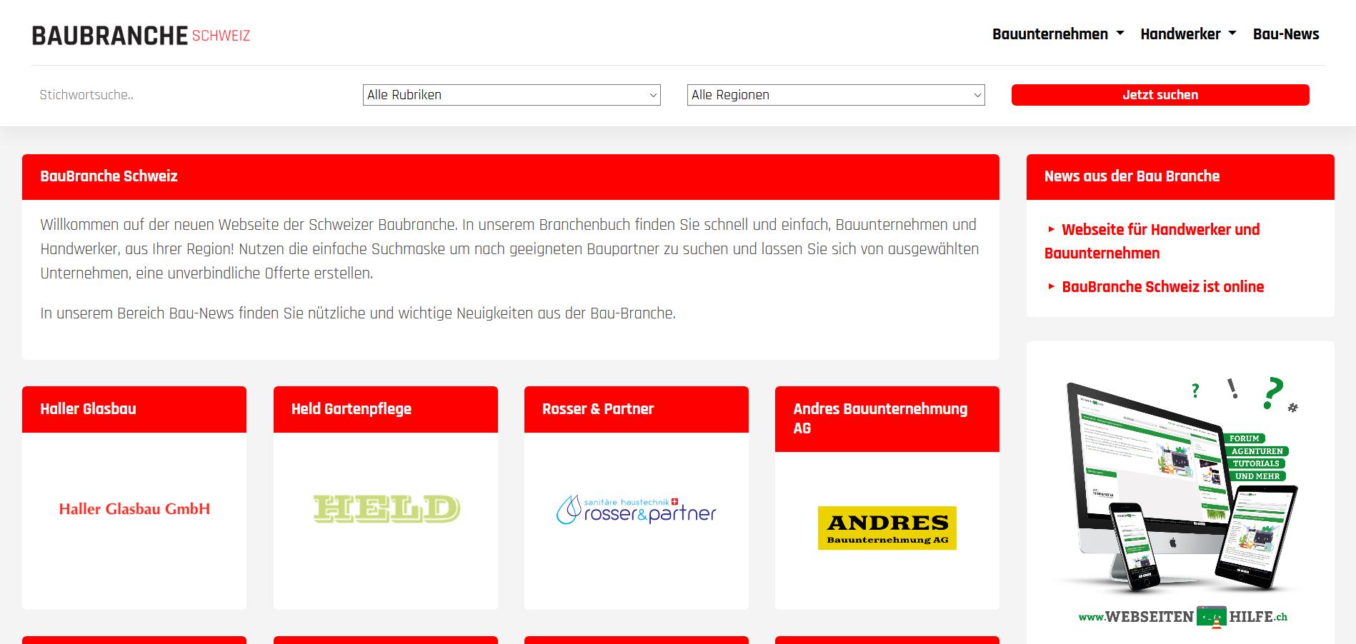 Baubranche-schweiz.ch