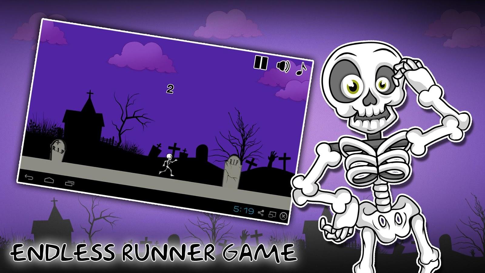 Fertig programmierte Android App Skelekton Run (alle Rechte)